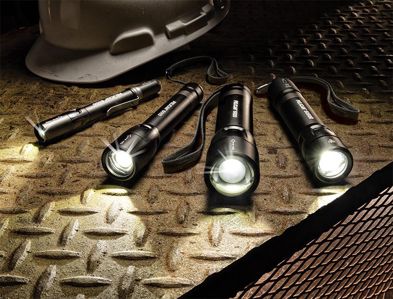 pelican 5 series flashlights slide beam