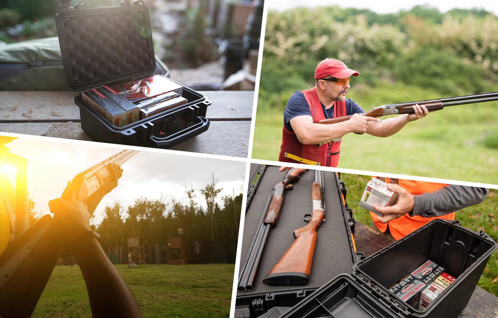 skeet shooting gun ammo cases