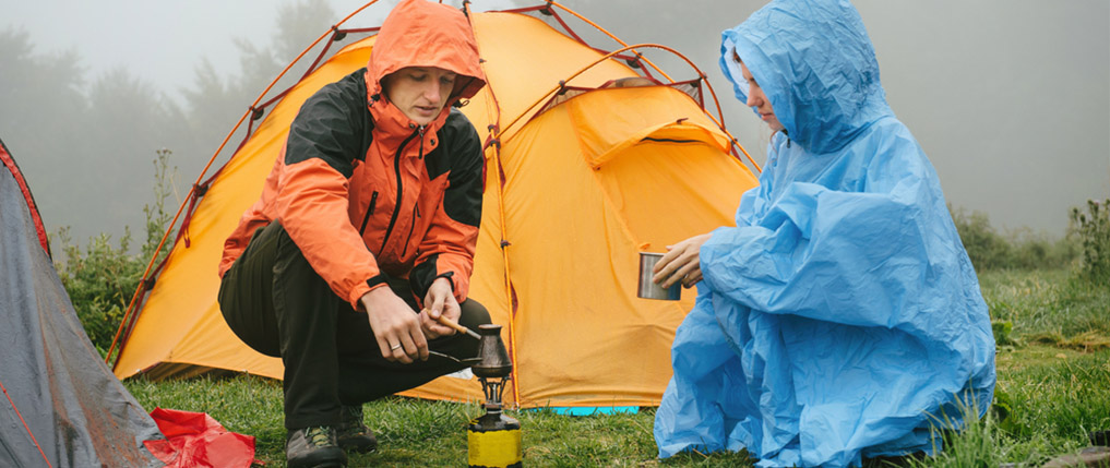 how to camp in the rain
