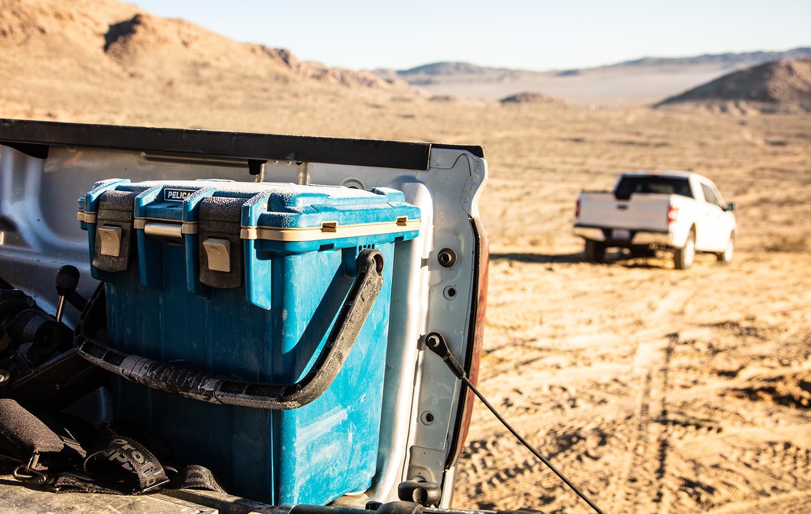 20qt cooler in truck bed