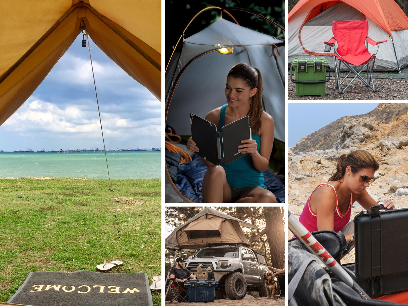 establish campsite shelter