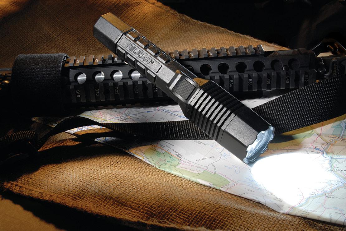 rugged police led flashlight