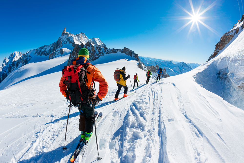 group skiers