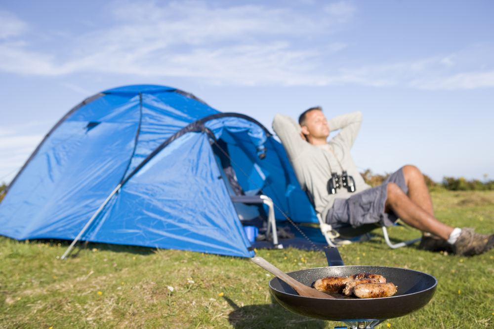 camping outdoor and cooking