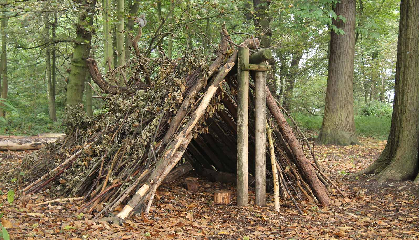 outdoor shelter natural materials