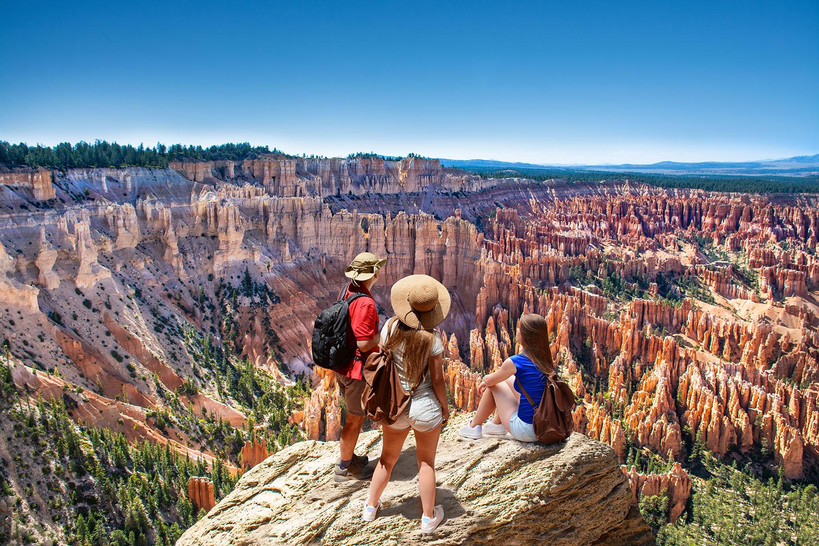 people on hiking trip