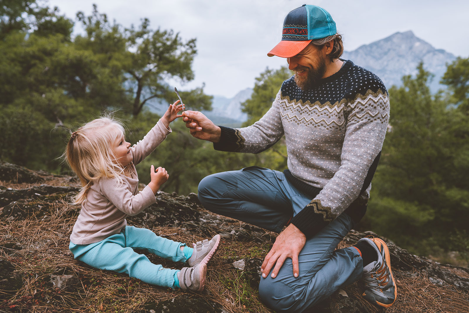 father daughter child outdoor