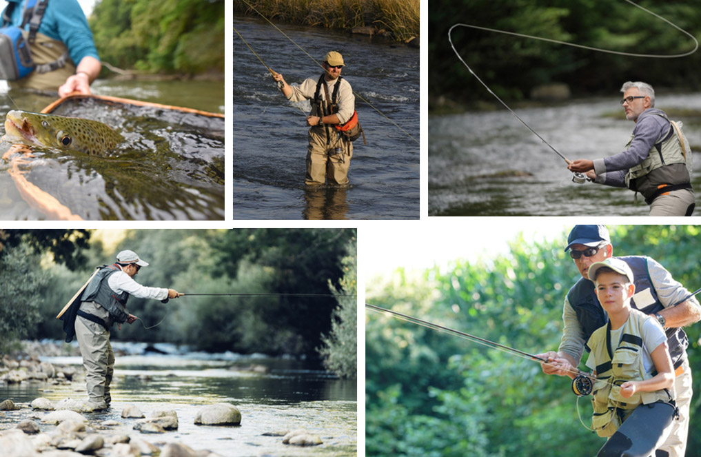fly fishing stances