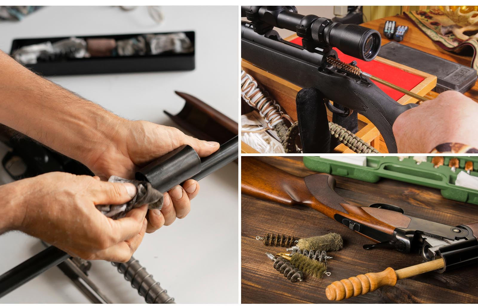 steps to clean a rifle