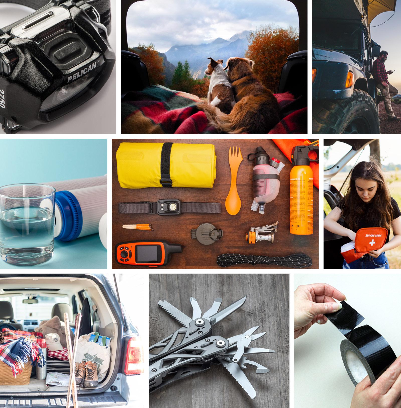 car camping gear bottles
