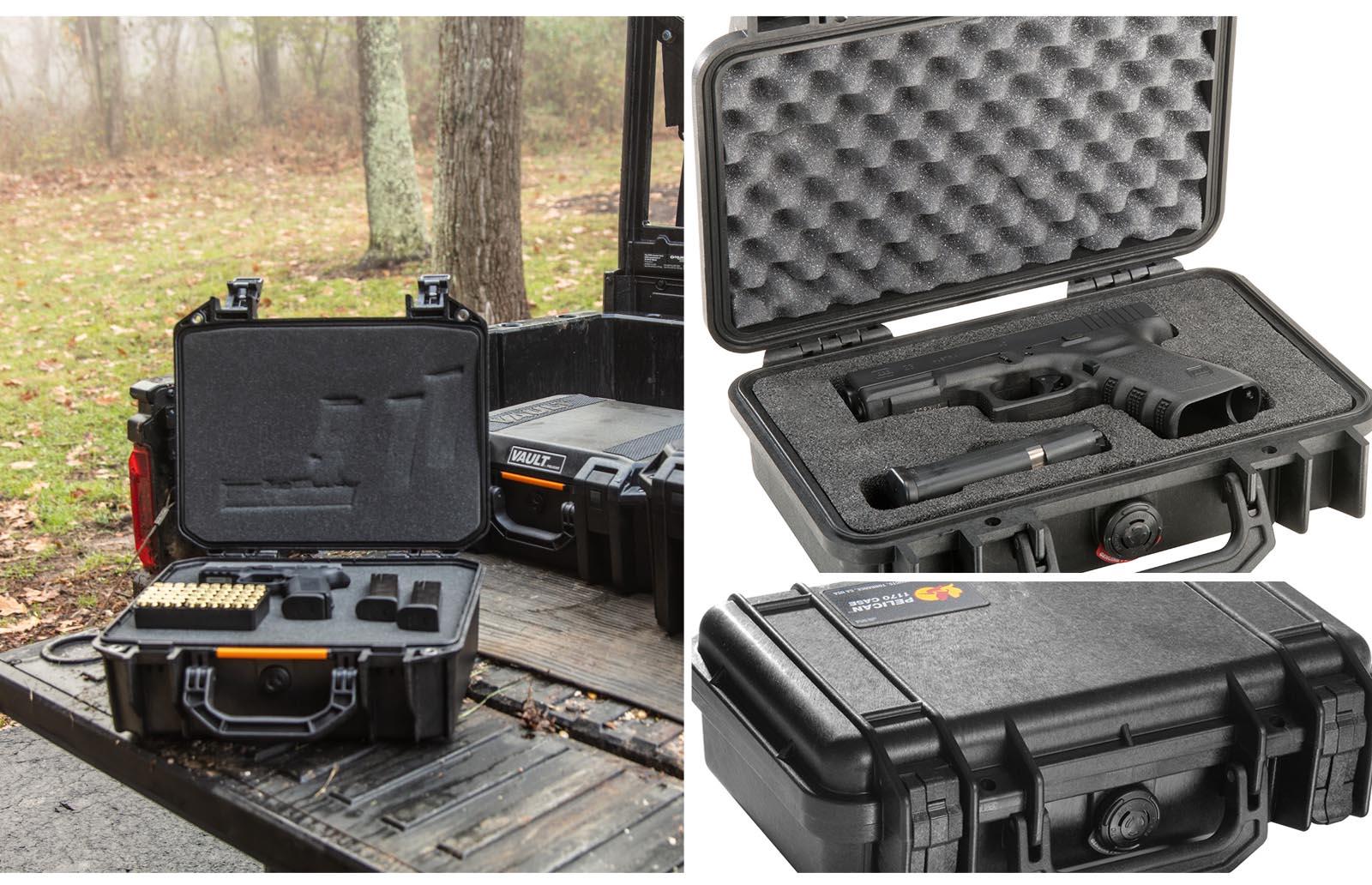 handgun pistol ammunition cases