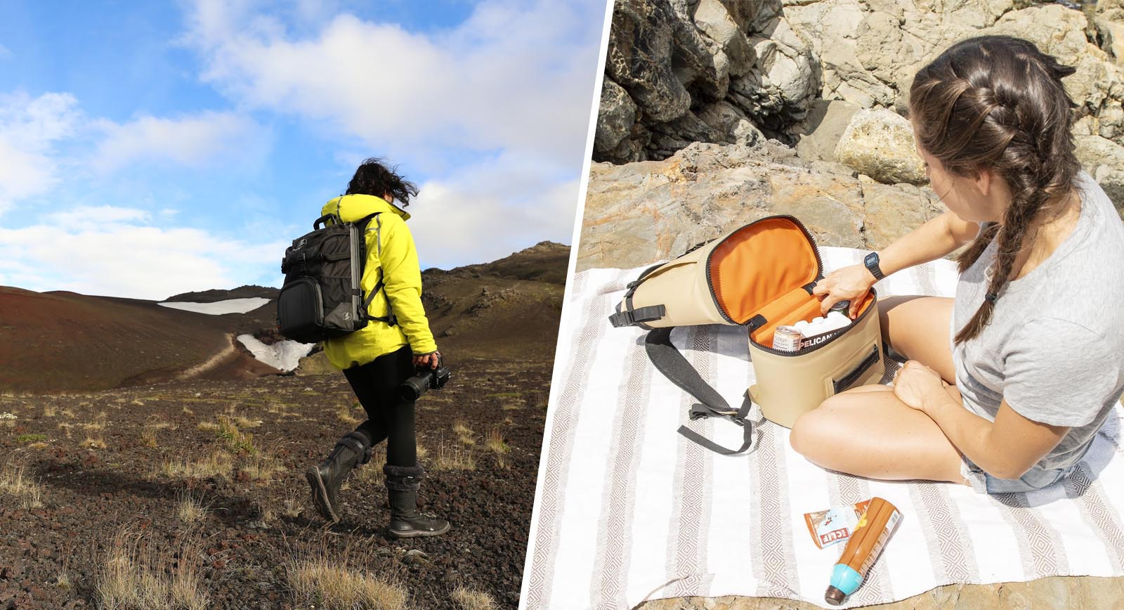 hiking camping backpack coolers
