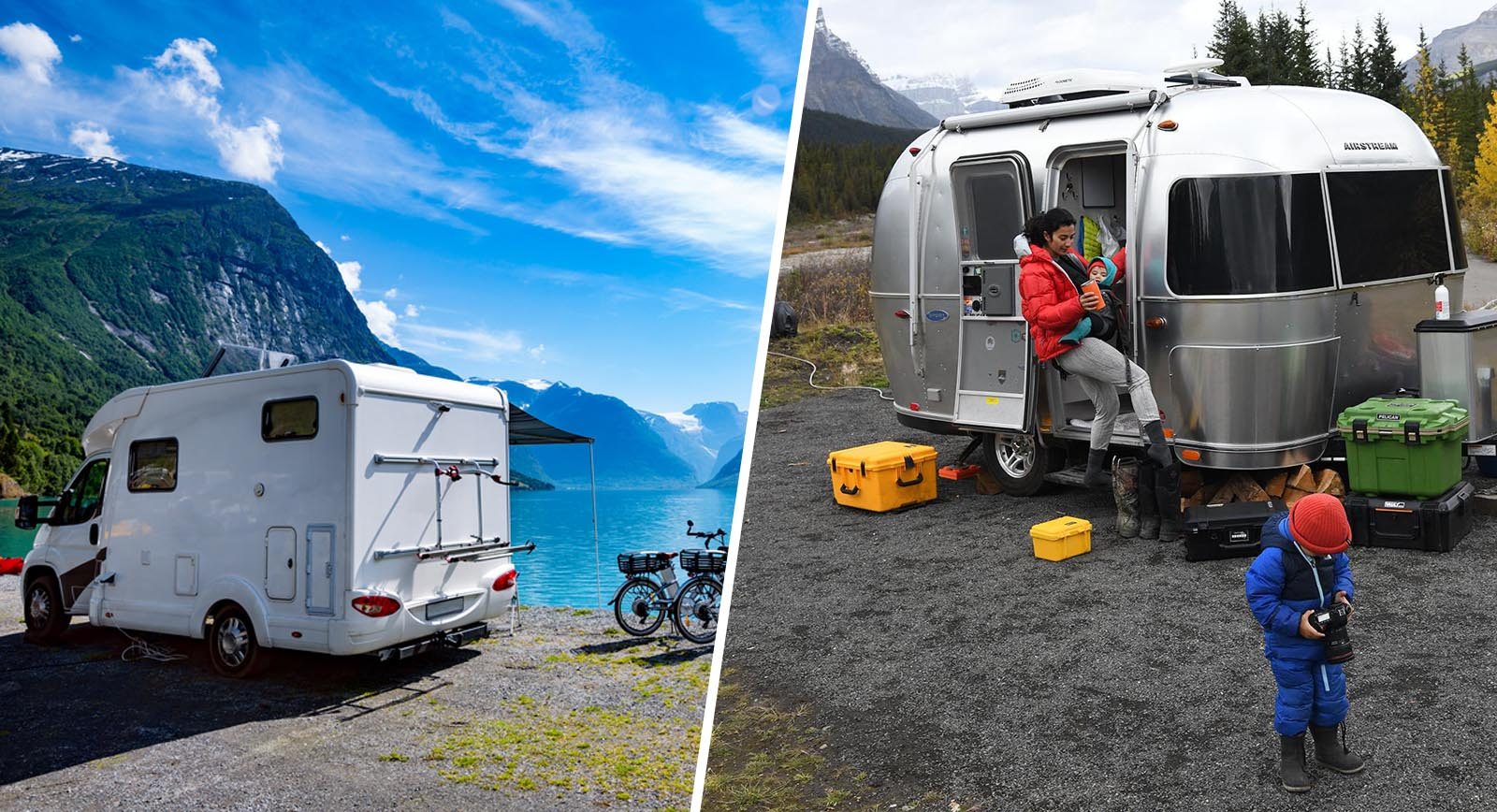 family camping boondocking rv