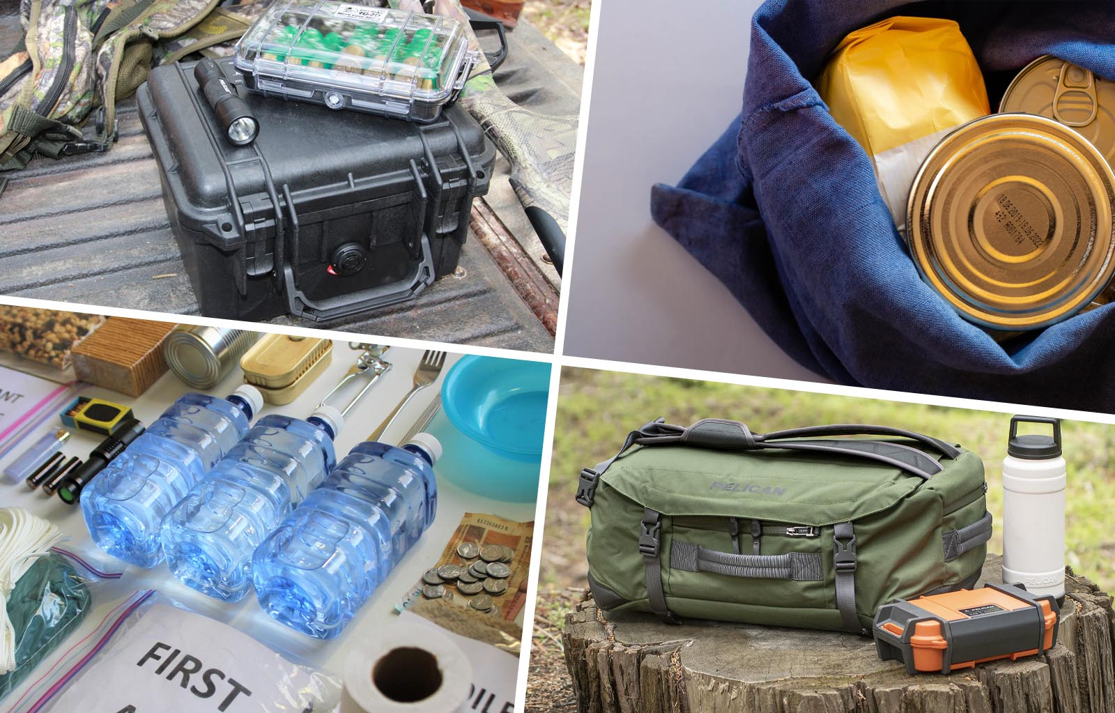 water flashlight batteries case emergency kit