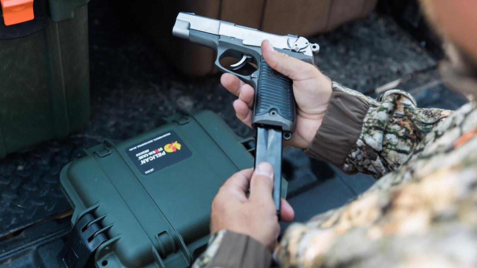 gun with pelican crush proof case