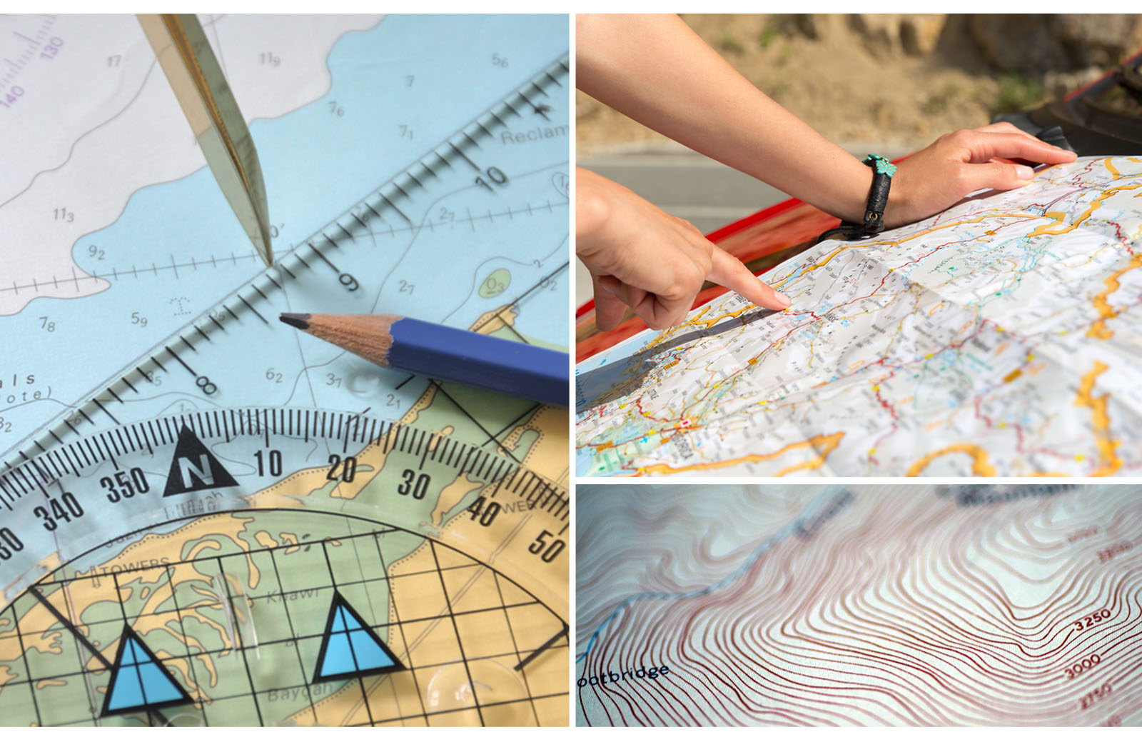 emergency geographic topographic map