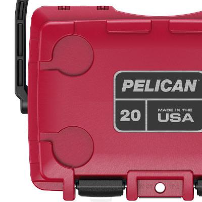 pelican cooler integrated cup holder