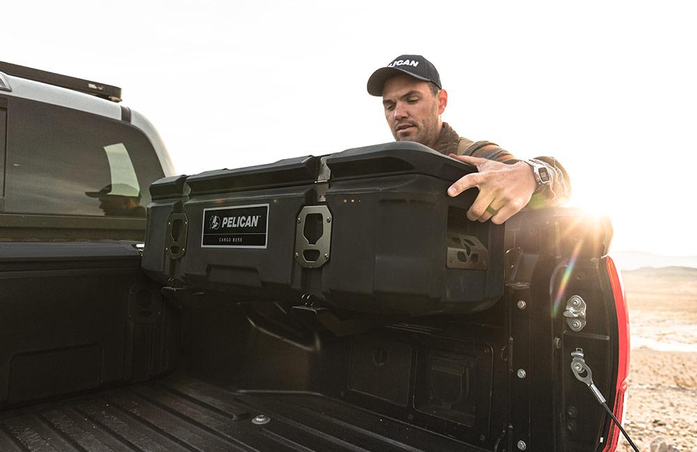 pelican saddle truck bed cargo case