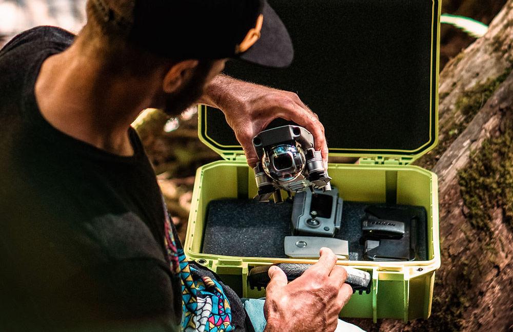pelican green foam vault drone case