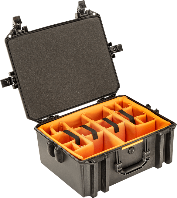 pelican v550 camera photo divider vault case