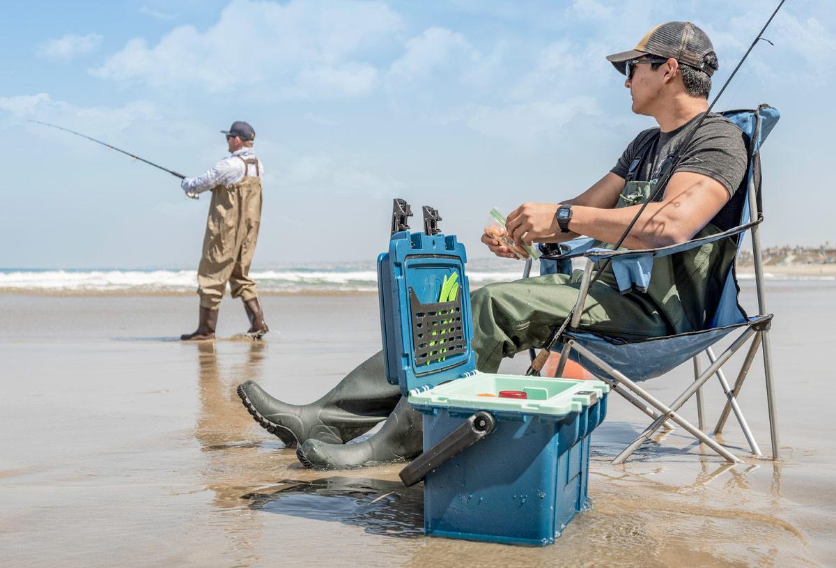 pelican 14qt blue fishing cooler