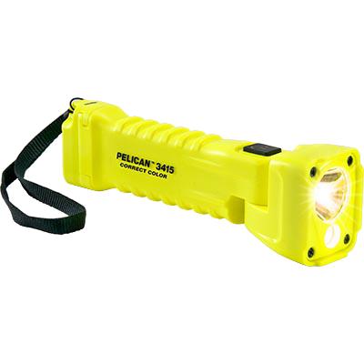 pelican 3415cc correct color yellow led flashlight