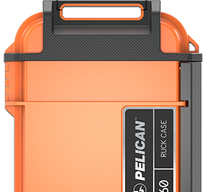 pelican personal ruck case orange