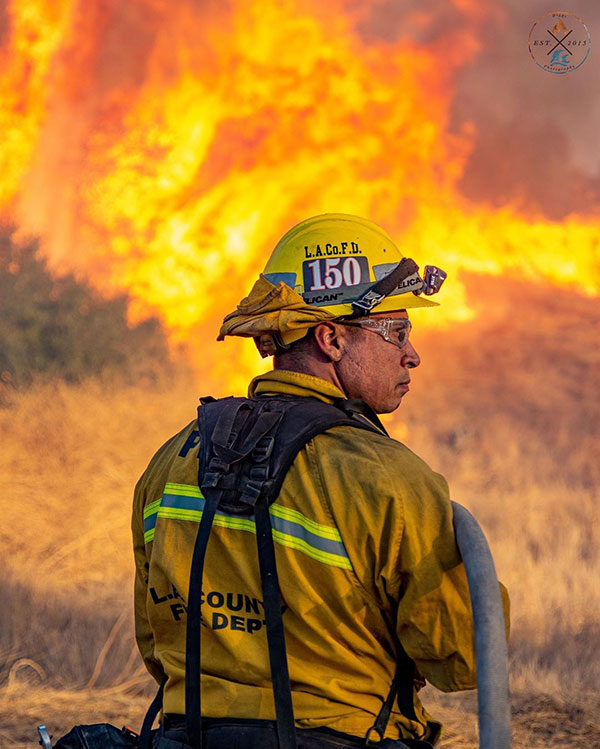 pelican portraits of protection photo contest raul perez la county firefighter