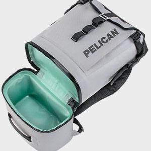 pelican ergonomic soft cooler backpack gray