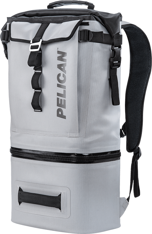 pelican insulated soft cooler backpack gray