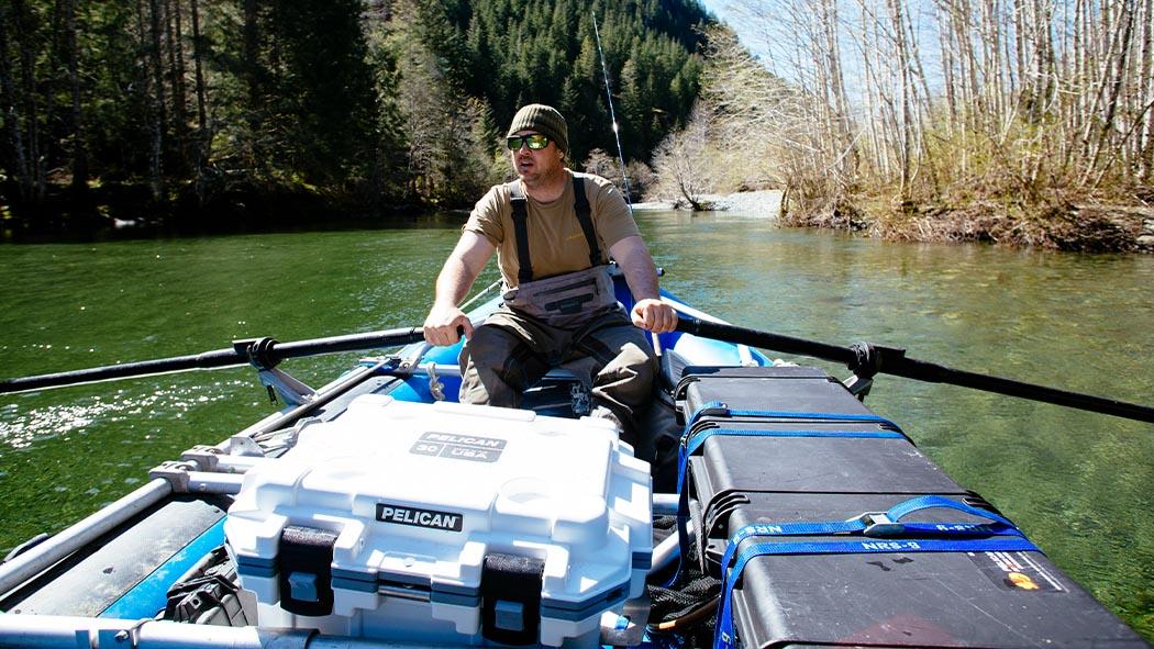 pelican 30qt boat lake outdoor elite cooler