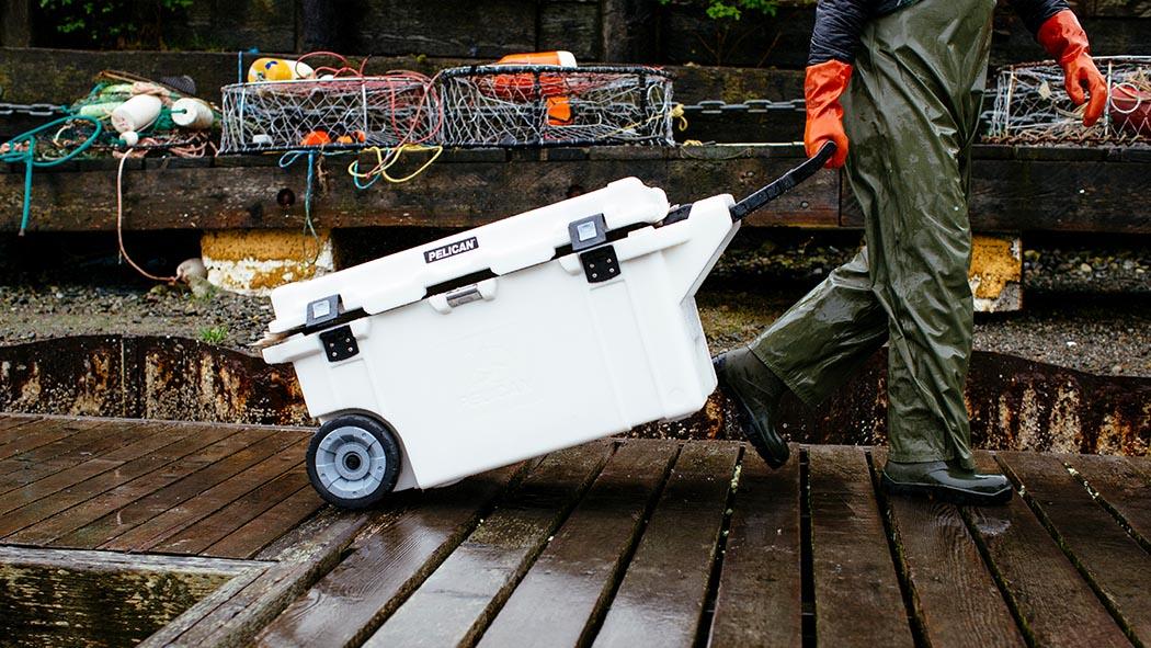 pelican 80qt fishing ice chest cooler