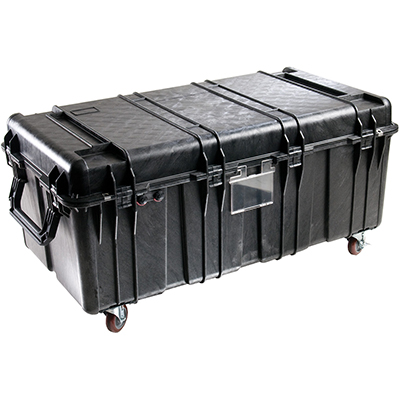 pelican protective rolling hard transport case