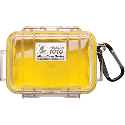 pelican 1010 submersible yellow small case