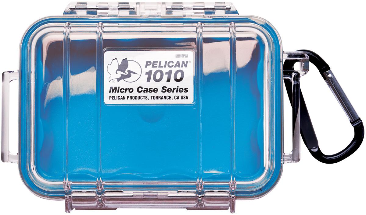 pelican waterproof boat blue micro case