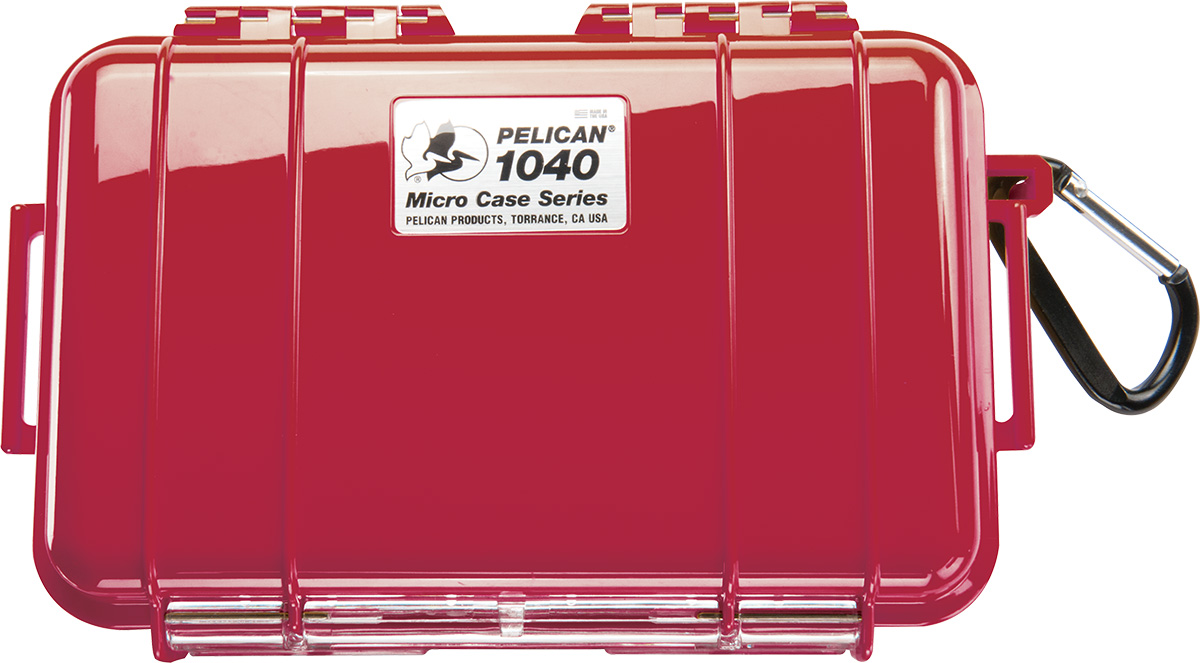 pelican 1040 red protective hard micro case