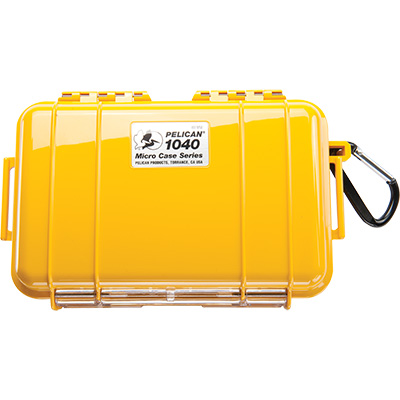 pelican 1040 yellow waterproof hard micro case