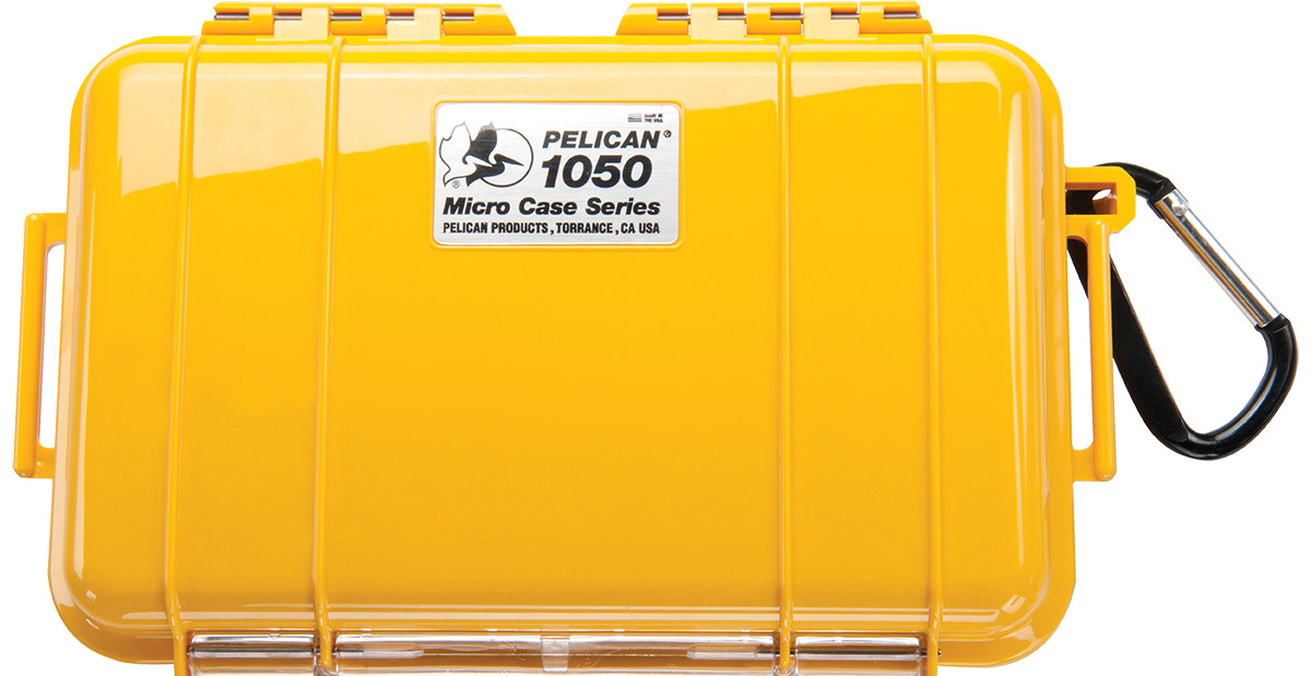 pelican 1050 solid yellow micro case