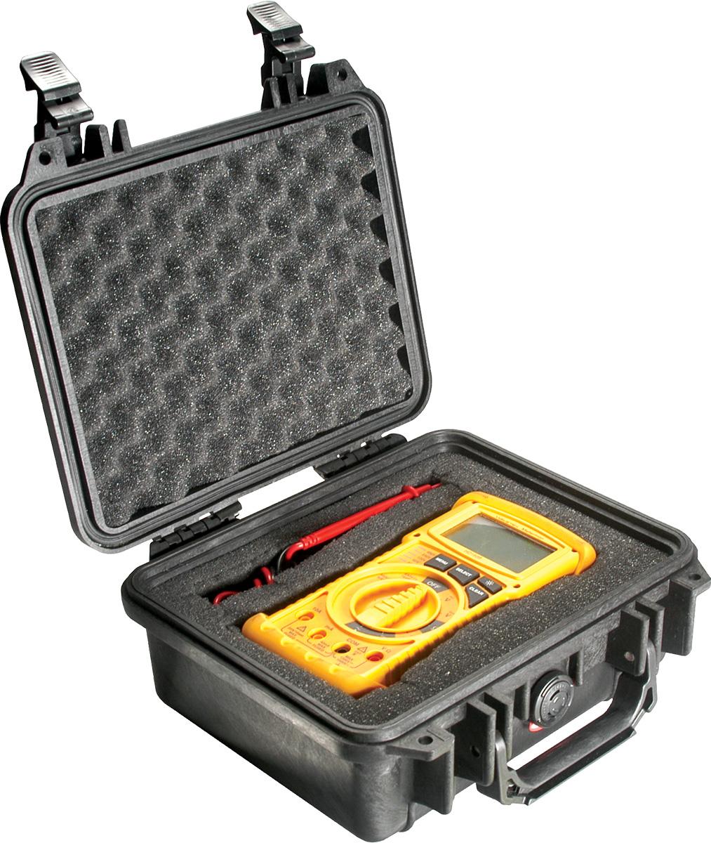 pelican 1200 black meter hard case