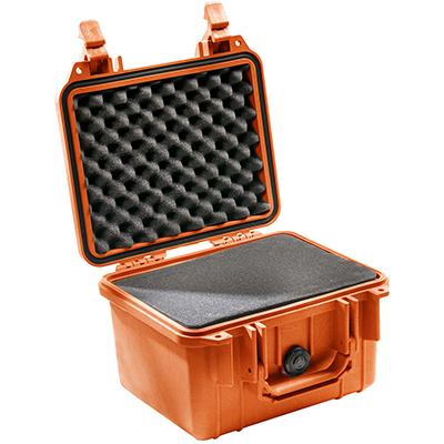 pelican orange camera waterproof case