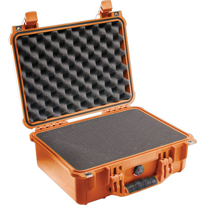 pelican 1450 orange foam protector equipment case