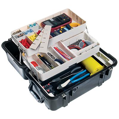 pelican 1460tool mobile tool fishing tackle box case