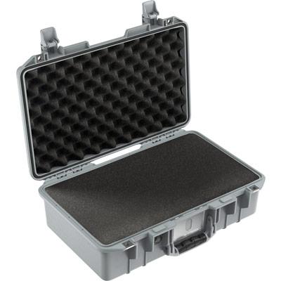 pelican air 1485 silver carry on foam case