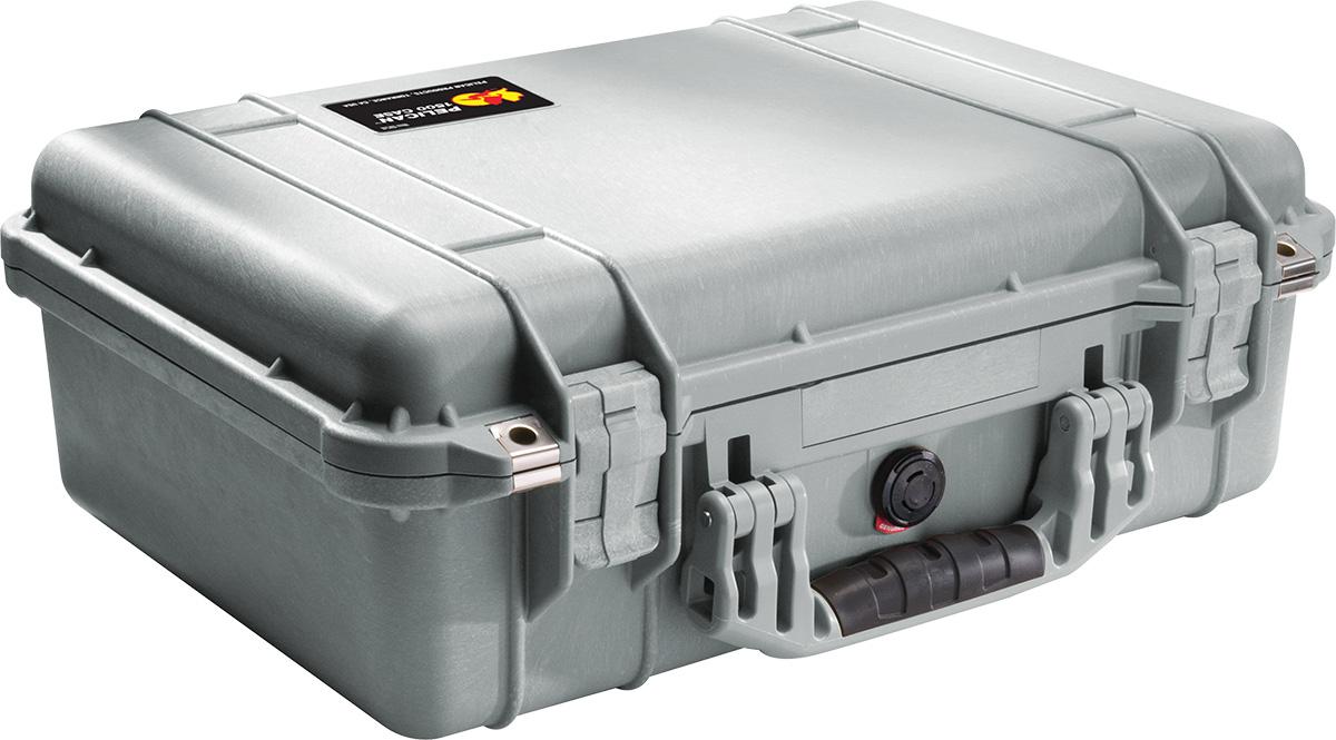 pelican 1500 silver waterproof case