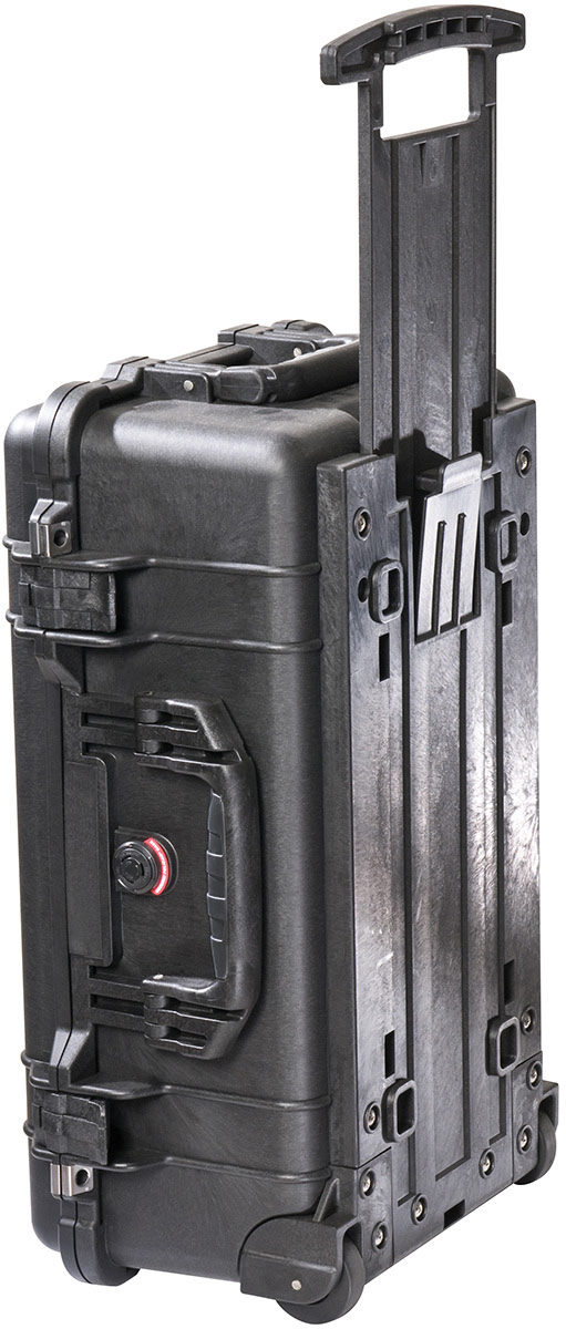 pelican hard wheeled travel carry on case