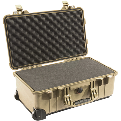 pelican protective travel carry on suit case