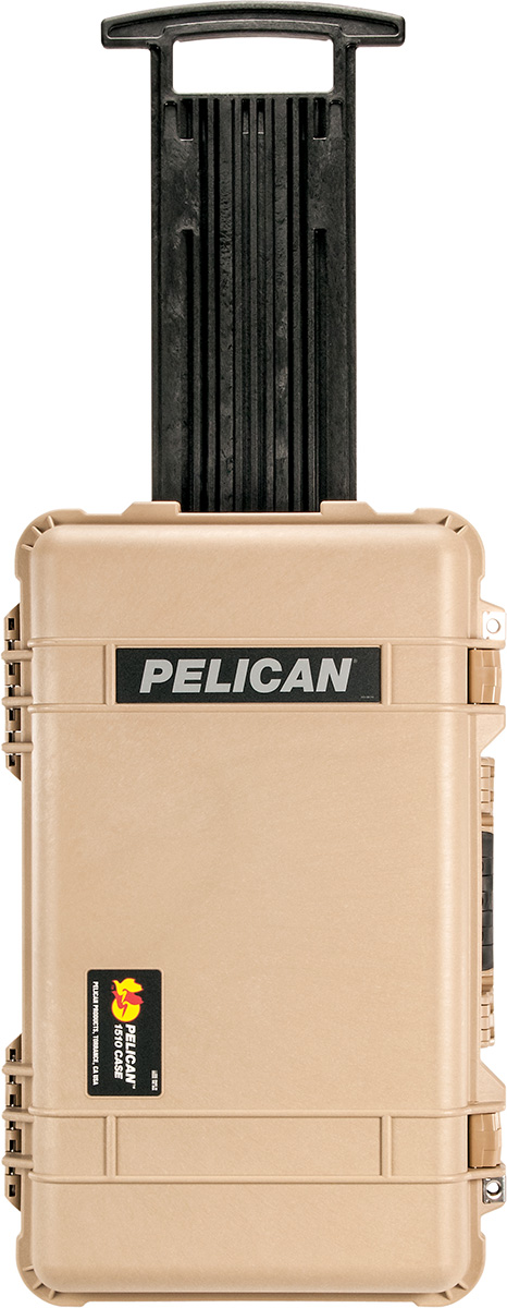 pelican tan carry on case rolling luggage