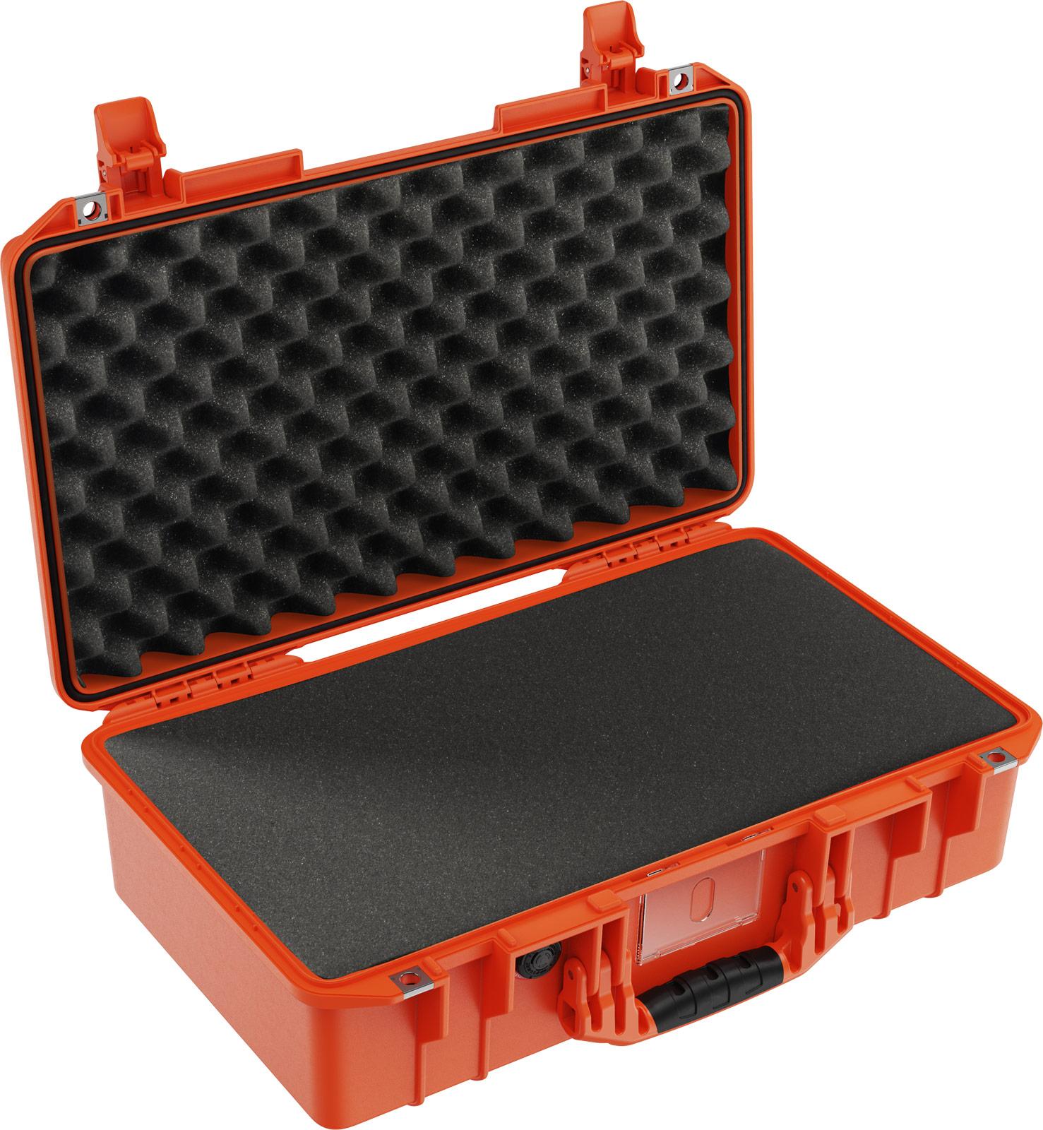 pelican 1525 air foam orange laptop case