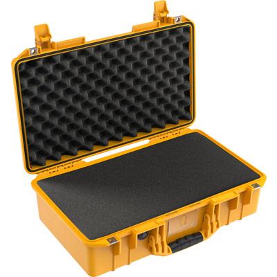 pelican 1525 air foam yellow camera case