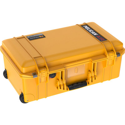 pelican yellow carry on case rolling cases